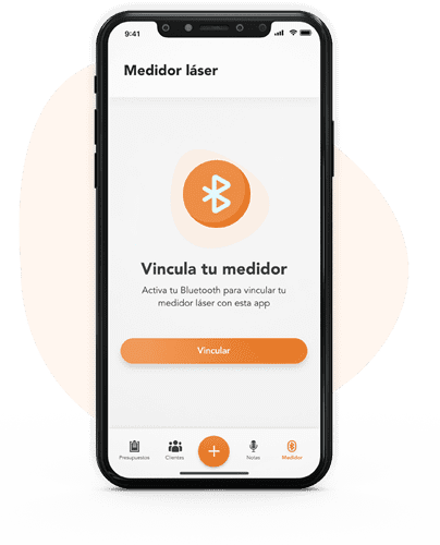 App se conecta a medidor láser