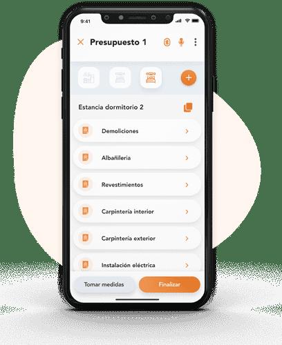 vista app de las bases de datos de precios